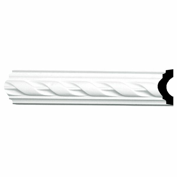 Jackson 1 5/8H x 94 1/2W x 3/4D French Ribbon Panel Moulding by Ekena Millwork