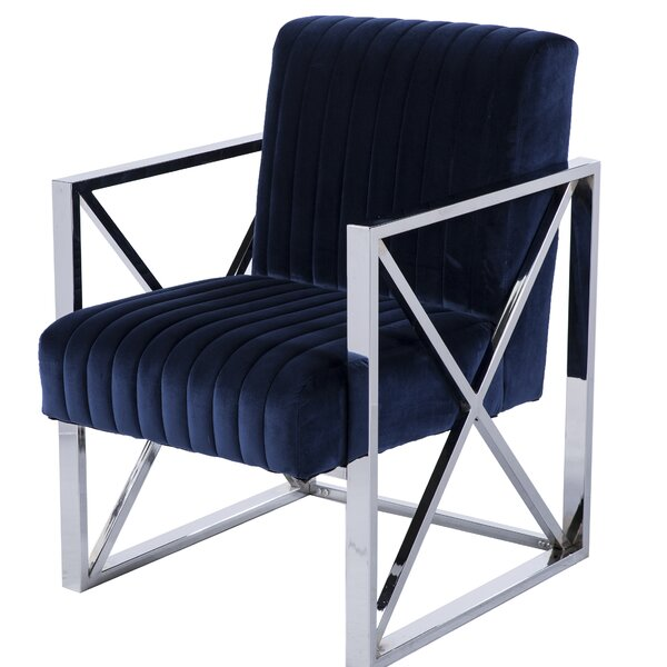 Wixom Armchair with Ottoman by Orren Ellis