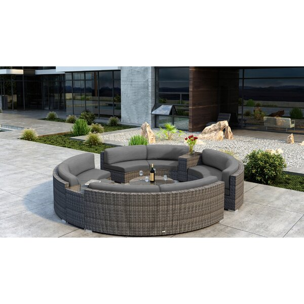 Gilleland 7 Piece Sunbrella Sectional Seating Group by Orren Ellis