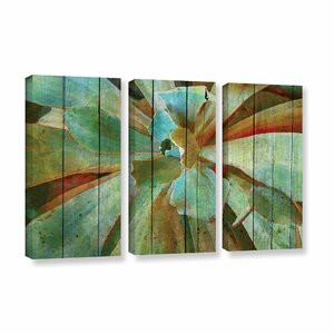 Summer Succulent 3 Piece Painting Print on Wrapped Canvas Set by Bay Isle Home