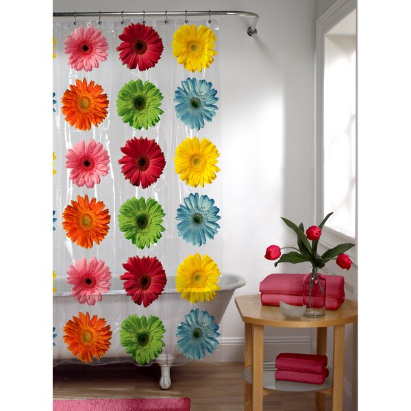 Galene Daisy PEVA Shower Curtain by Zoomie Kids