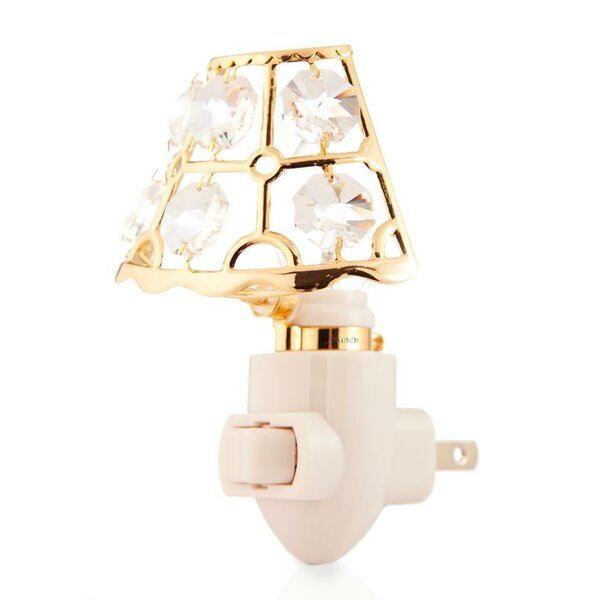 24K Gold Plated Lamp Shade Night Light by Matashi Crystal