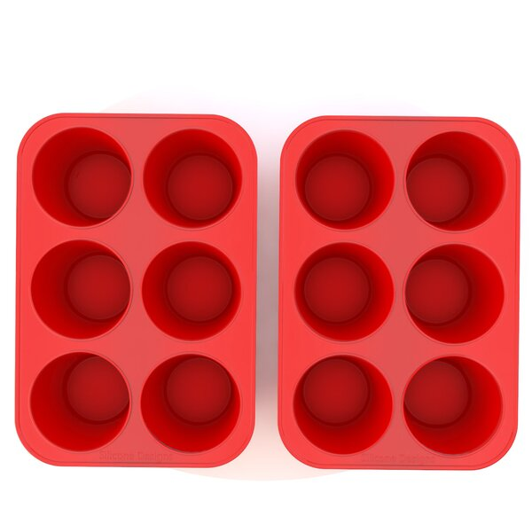 Silicone Texas Muffin Pan and Cupcake Maker (Set of 2) by My Home Basics