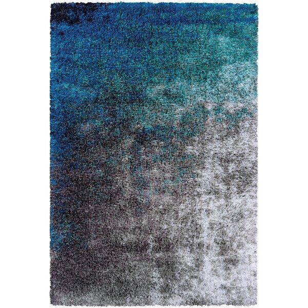 Pangburn Ocean Gray/Turquoise Area Rug by Wrought Studio