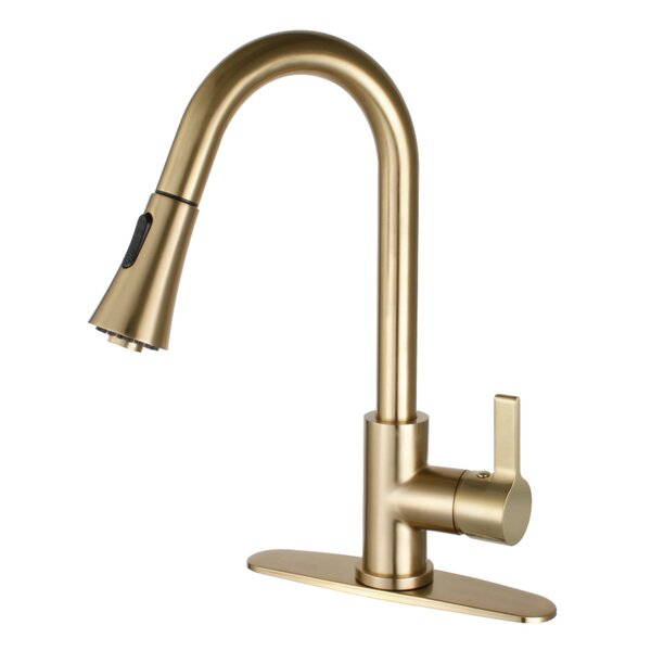 Continental Pull Down Single Handle Kitchen Faucet by Kingston Brass Kingston Brass