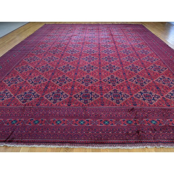 One-of-a-Kind Satterfield Hand-Knotted Red 13'1 x 19'8 Wool Area Rug