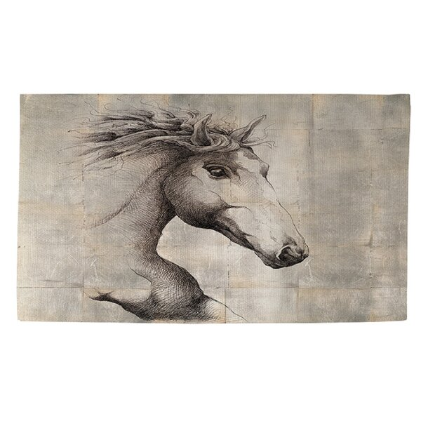 Run with the Wind Grey Area Rug by Manual Woodworkers & Weavers