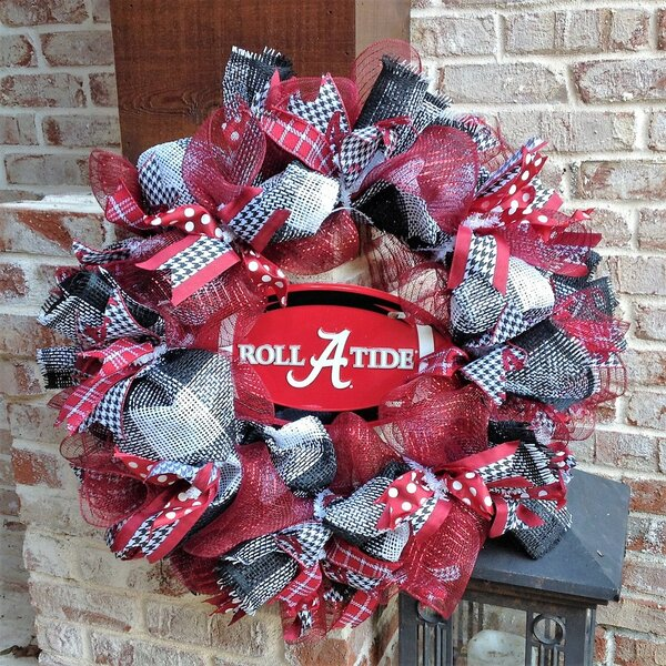 Alabama Crimson Tide Collegiate 26 Wreath by Flora Decor