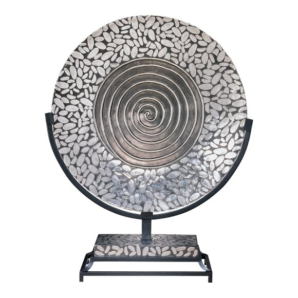 Charger Plate in Silver and Black by Minka Ambience