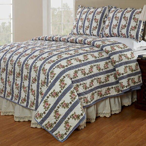 Celine Cornflower Reversible Quilt Set by Amity Home
