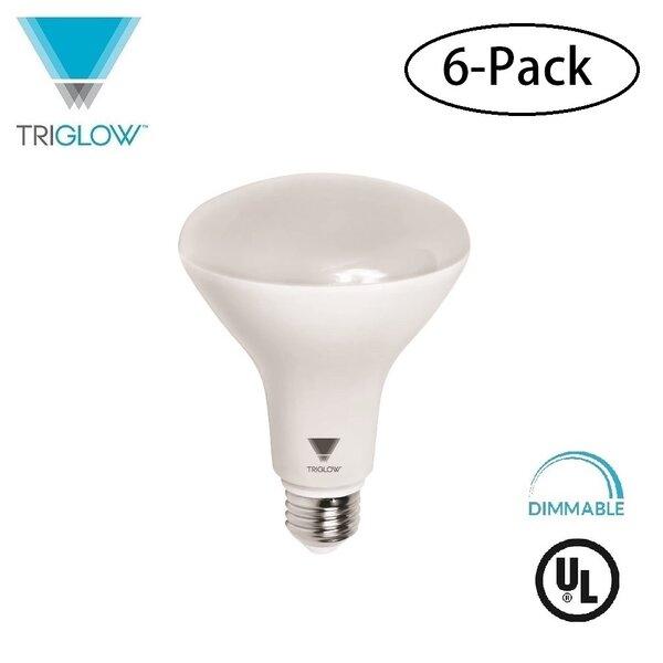100W Equivalent E26 LED Spotlight Light Bulb (Set of 6) by TriGlow