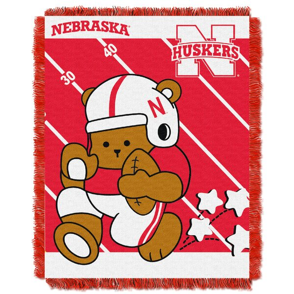 Collegiate Nebraska Baby Blanket by Northwest Co.