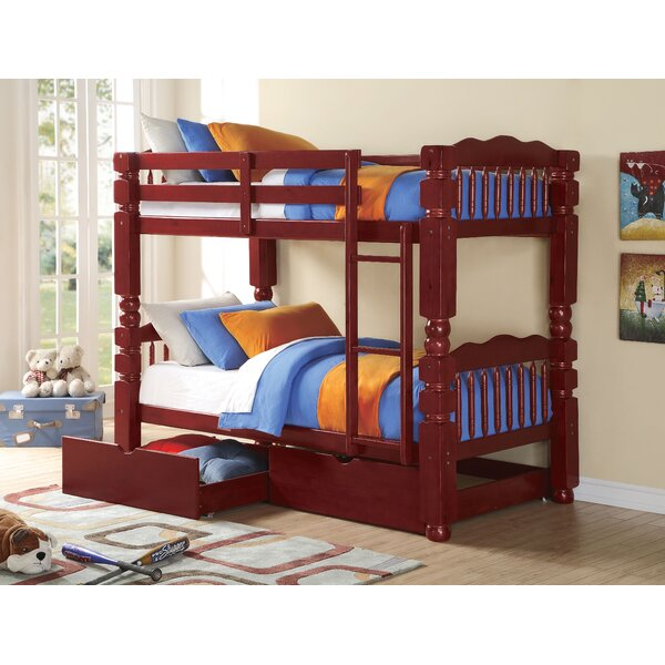 Englewood Twin Bunk Bed with Drawers by Harriet Bee