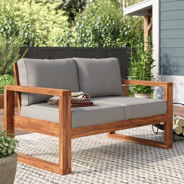 Lyall Loveseat With Cushion By Union Rustic