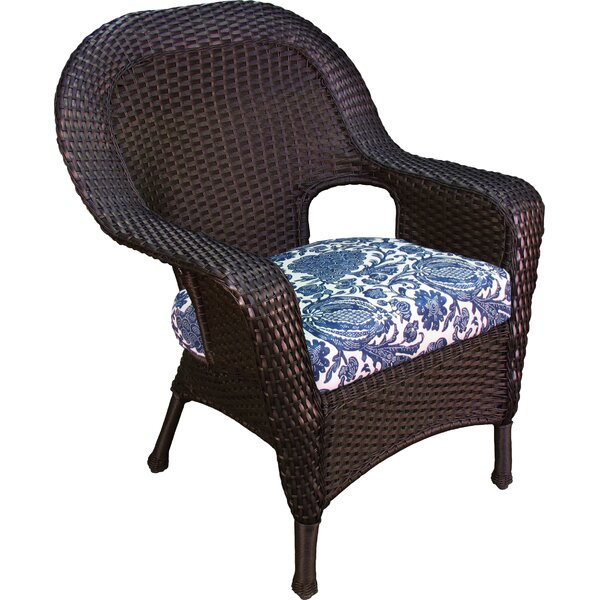 Fleischmann Stacking Patio Dining Chair with Cushion by Darby Home Co
