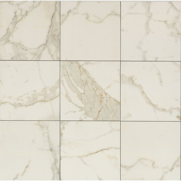 Classic Moderne 12 x 12 Porcelain Field Tile in Calacatta by Grayson Martin