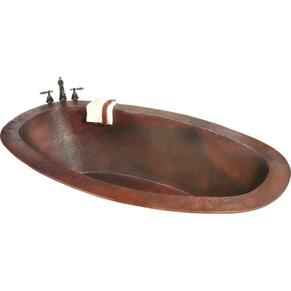 Roberta Copper 67 x 31 Small Self-Rimming or Undermount Bathtub by D'Vontz