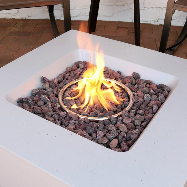 Contempo Outdoor Concrete Propane Gas Fire Pit by SunnyDaze Decor
