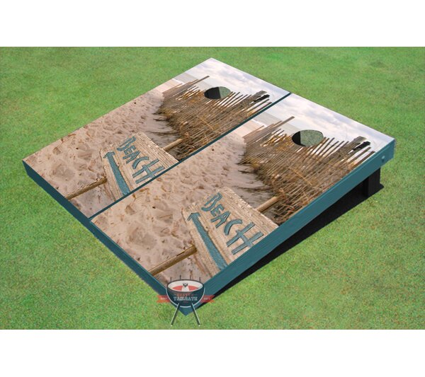 Beach Signs Cornhole Board (Set of 2) by All American Tailgate
