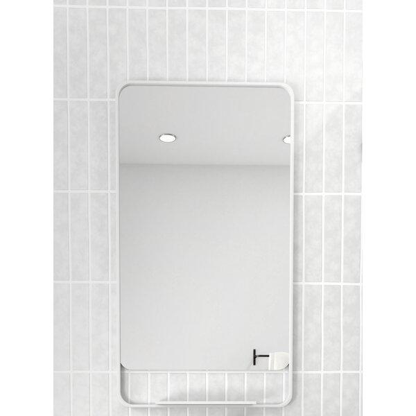 Radius Corner with Shelves Bathroom Mirror