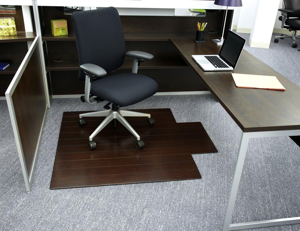 symple stuff bamboo office chair mat reviews wayfair. Black Bedroom Furniture Sets. Home Design Ideas