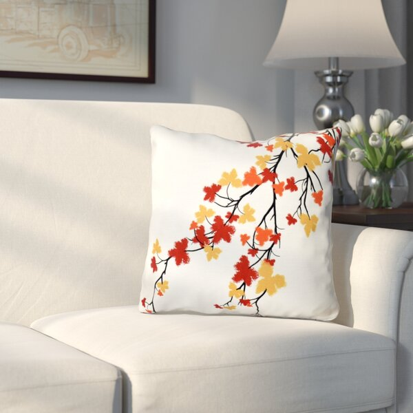 Marshallton Hues Floral Outdoor Throw Pillow by Three Posts