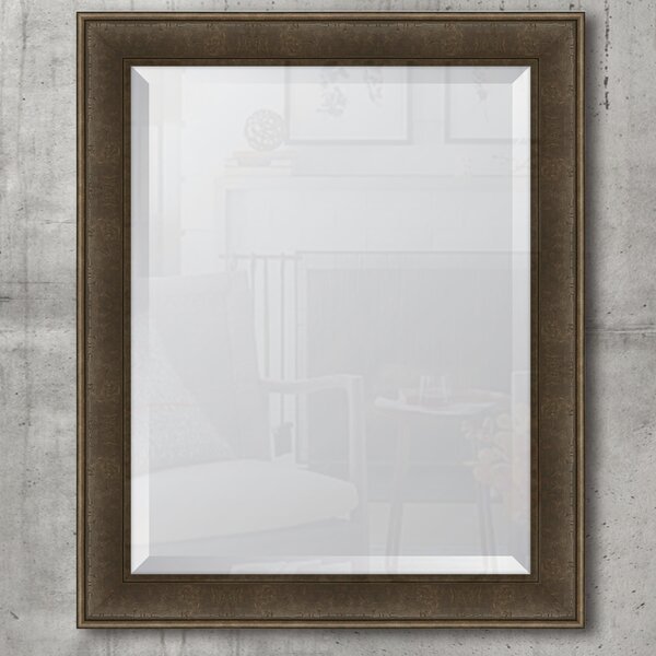 Charcoal Resin Frame Wall Mirror by Melissa Van Hise