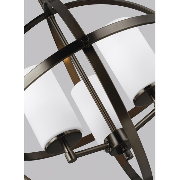 Raine 3 - Light Shaded Globe Chandelier by Wade Logan Wade Logan