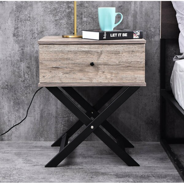 Brand Bedside 2 Drawer Nightstand by Wrought Studio