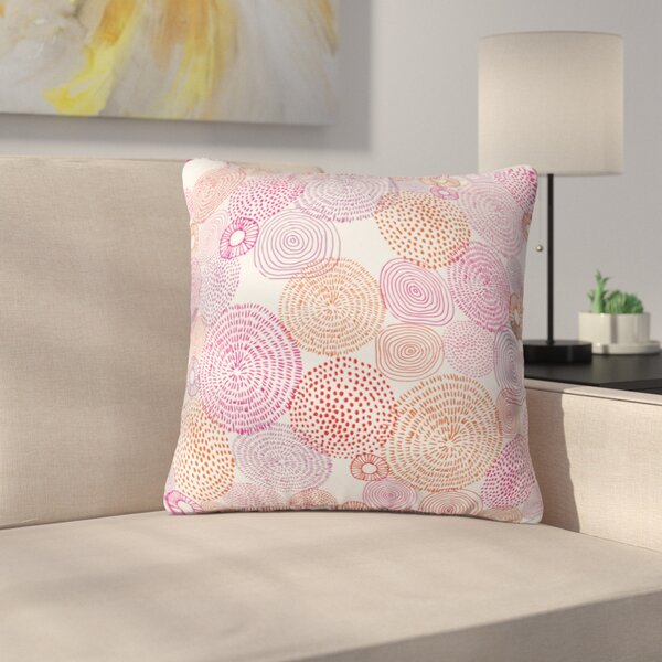 Circles in Colors I Throw Pillow by East Urban Home