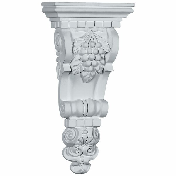 Grape Bunch 13 3/4H x 6 3/4W x 3 1/2D Corbel by Ekena Millwork