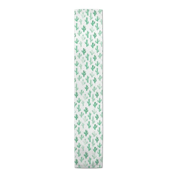 Flannery Happy Cacti Table Runner by Bungalow Rose