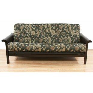 ashante floral box cushion futon slipcover nature  u0026 floral futon covers you u0027ll love   wayfair  rh   wayfair