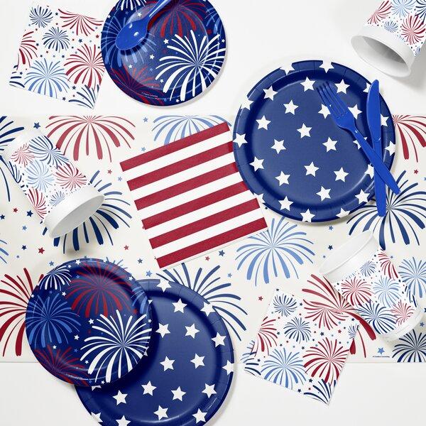 Patriotic Tableware Set By Creative Converting.
