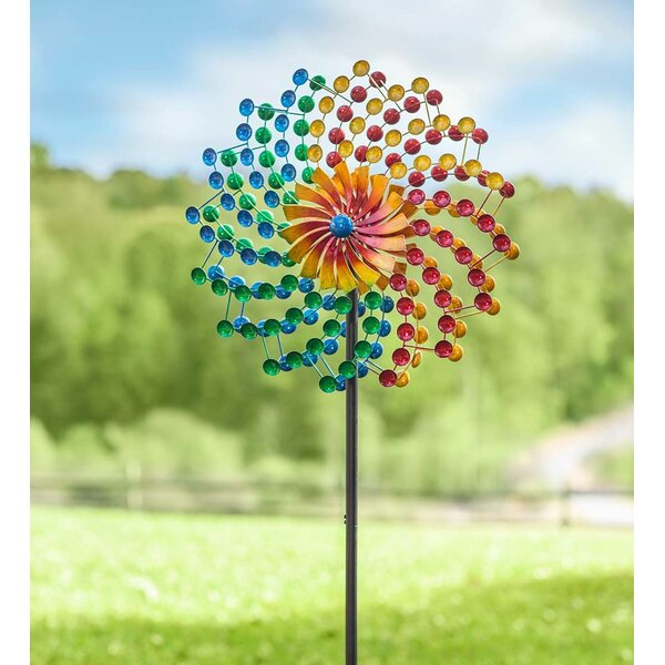 Blue Sun Flower Wind Spinner//Great Gift//Yard//Decoration