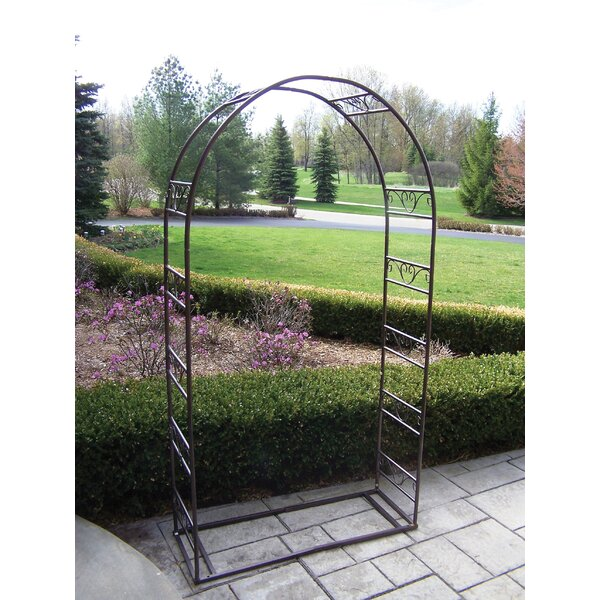 Single Iron Arbor with Base by Oakland Living