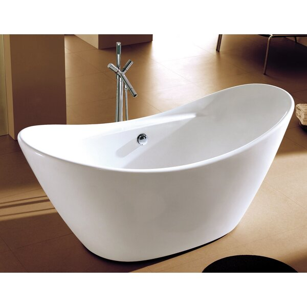 Oval Acrylic 68 x 29 Freestanding Soaking Bathtub by Alfi Brand