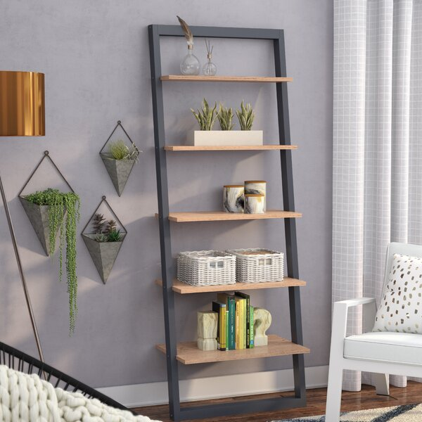 Theophanes 2 Tone Ladder Bookcase by Mercury Row