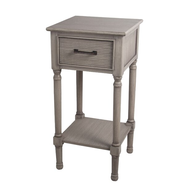 Allura Pearl End Table By Highland Dunes