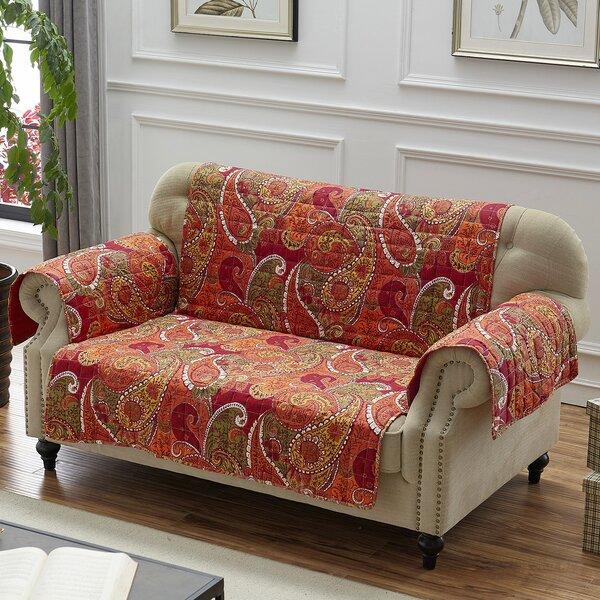 Sayler Box Cushion Loveseat Slipcover By Charlton Home