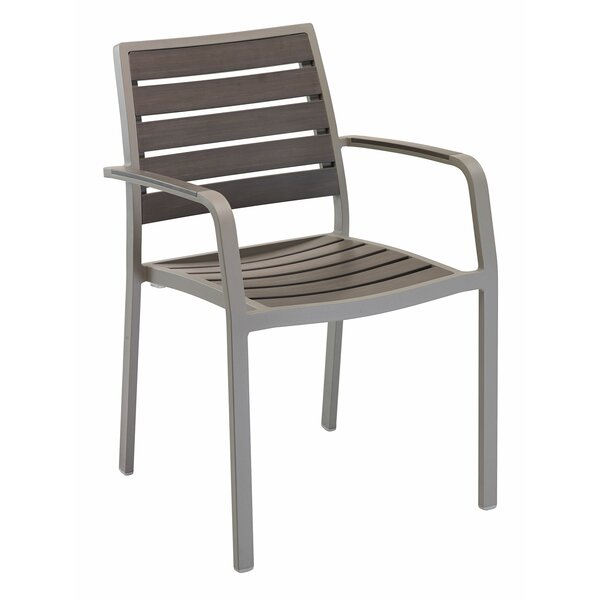 Stacking Teak Patio Dining Chair by Florida Seating