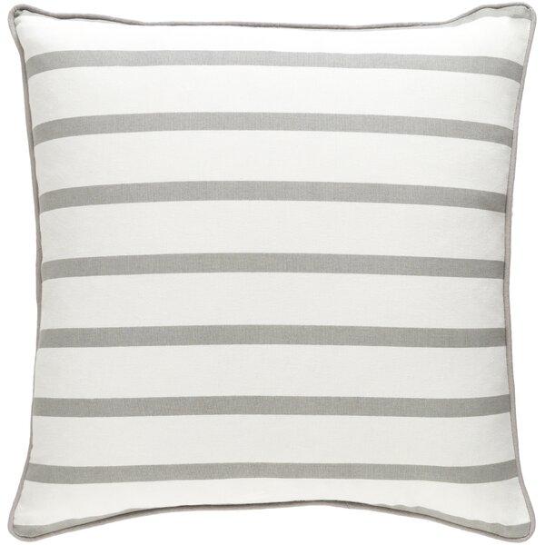 Carnell Mini Stripe Cotton Throw Pillow by Mercury Row