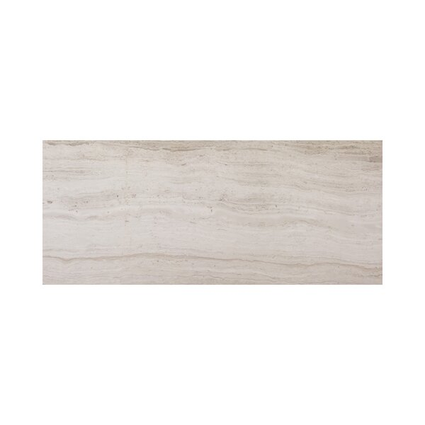 Wooden Honed 3 x 12 Marble Subway Tile in White by Ephesus Stones