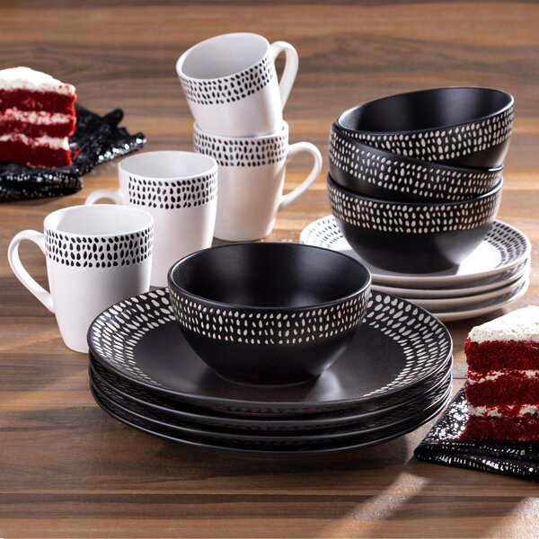 Hitz 16 Piece Dinnerware Set, Service for 4 by Bungalow Rose