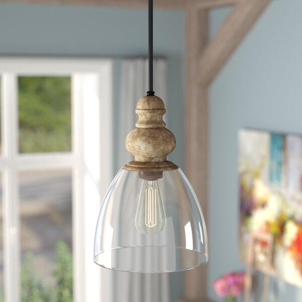 Lemelle 1-Light Bell Pendant by Laurel Foundry Mod