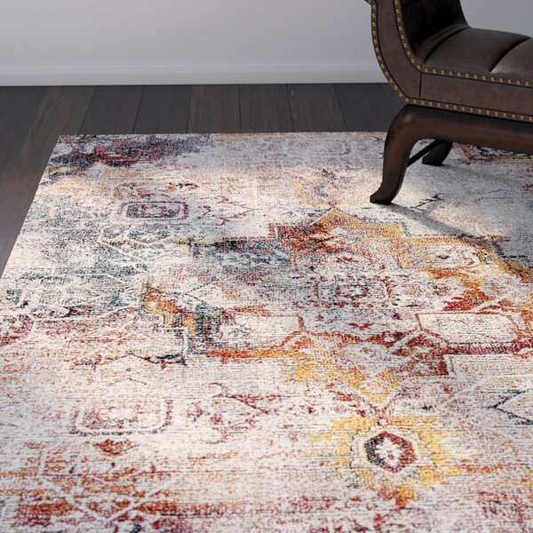 Zaiden Gray/Brown/Yellow Area Rug by World Menagerie