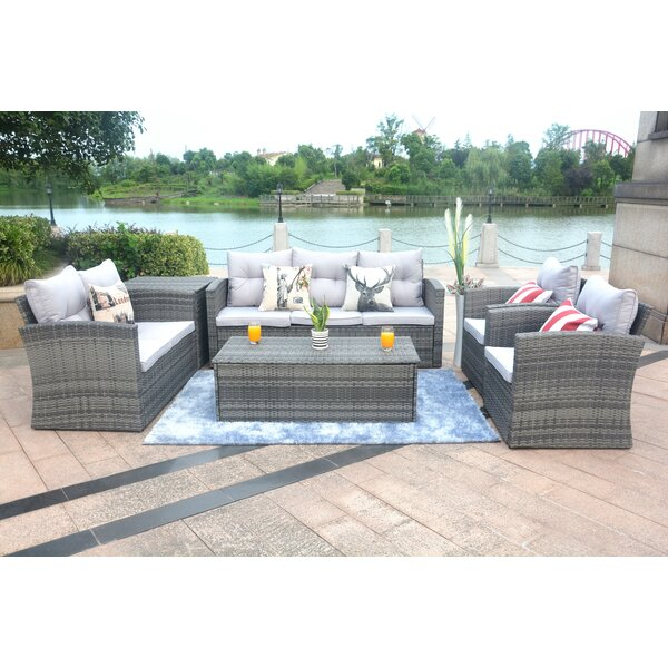Medford 6 Piece Sectional Set with Cushions Brayden Studio BYST5020