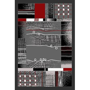 Savings Cosner Gray/Black Area Rug By Ebern Designs