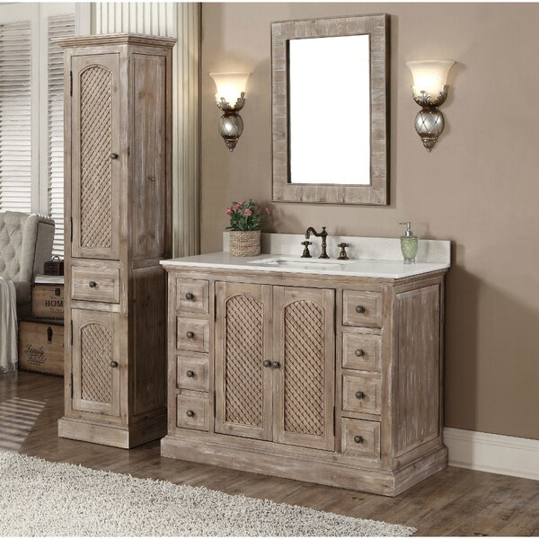 Clemmie 49 Single Bathroom Vanity Set with Mirror by Laurel Foundry Modern Farmhouse