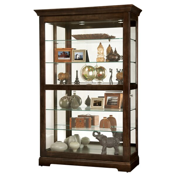 Bracy Lighted Curio Cabinet by Canora Grey